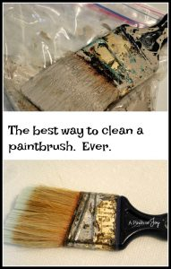 How to clean a really gunky paintbrush and keep it clean