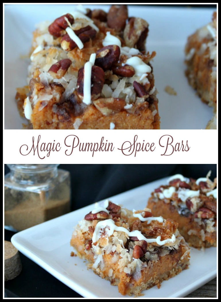 Magic Pumpkin Spice Bars -- A Pinch of Joy