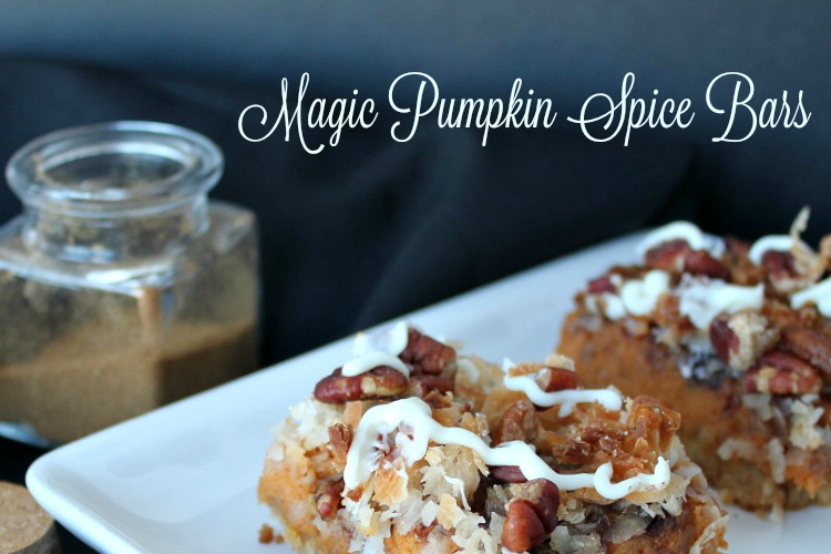 Magic Pumpkin Spice Bars