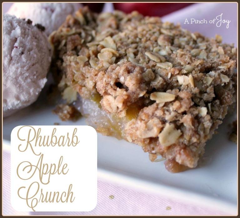 Rhubarb Apple Crunch -- A Pinch of Joy
