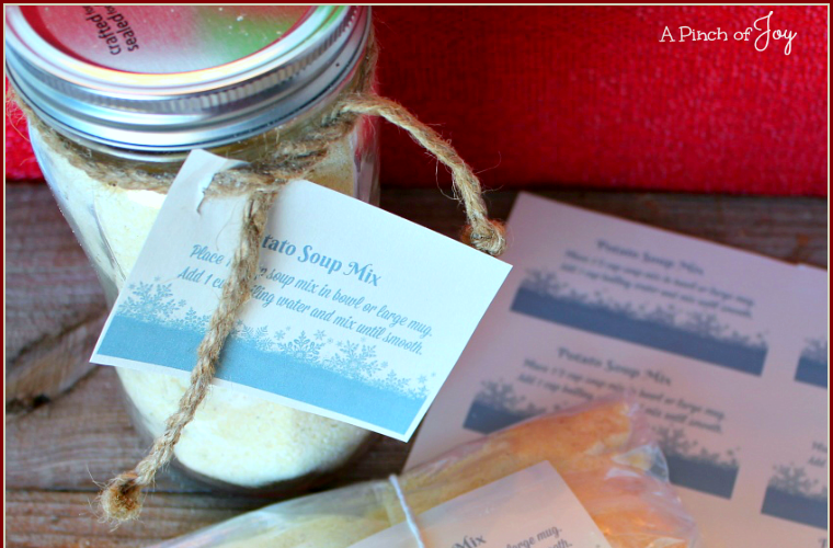 Potato Soup Mix — gift in a jar