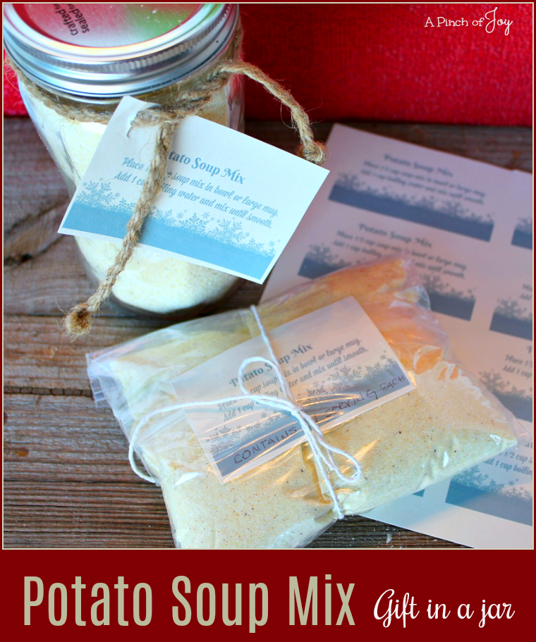 Potato Soup Mix -- A Pinch of Joy Great for lunch at your desk, a hearty warm up for the backpacker and more!
