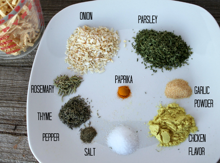 Seasonings for Savory Chicken Soup Mix -- A Pinch of Joy