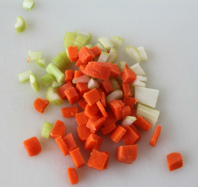 Vegetable Dice for Savory chicken soup Mix -- A Pinch of Joy