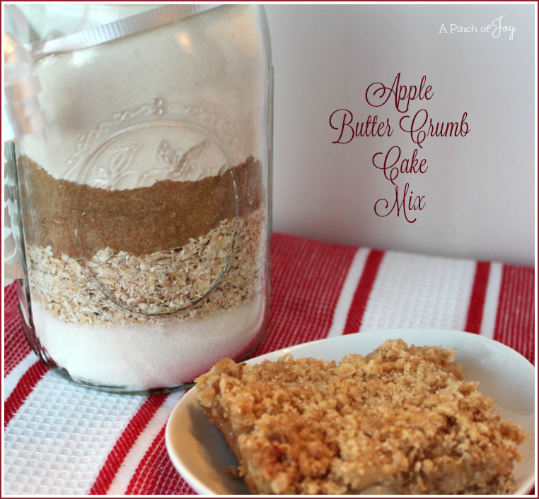 Apple Butter Crumb Cake Mix -- A Pinch of Joy Gift in a Jar