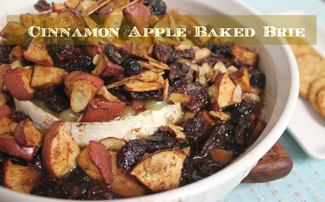 Cinnamon Apple Baked Brie -- A Pinch of Joy Better than an apple pie -- easier too!