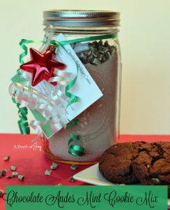 Chocolate Andes Mint Cookie Mix — Gift in a Jar