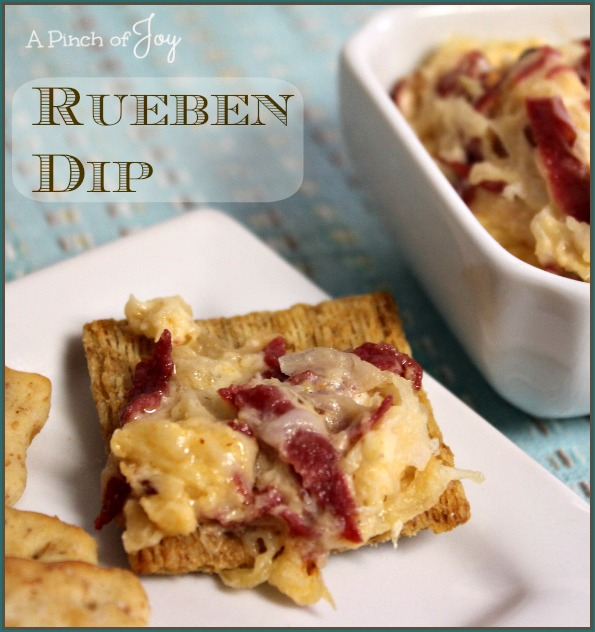 Rueben-Dip-A-Pinch-of-Joy A creamy, tangy dip that tastes just like it's brother, the Rueben Sandwich!