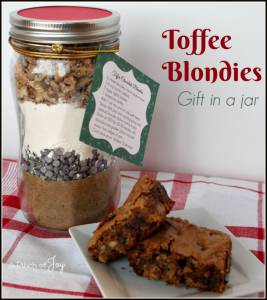 Toffee Blondies -- A Pinch of Joy Gift in a Jar Rich and buttery