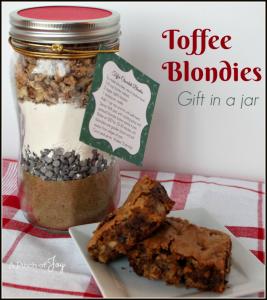 Toffee Blondies   Gift in a jar