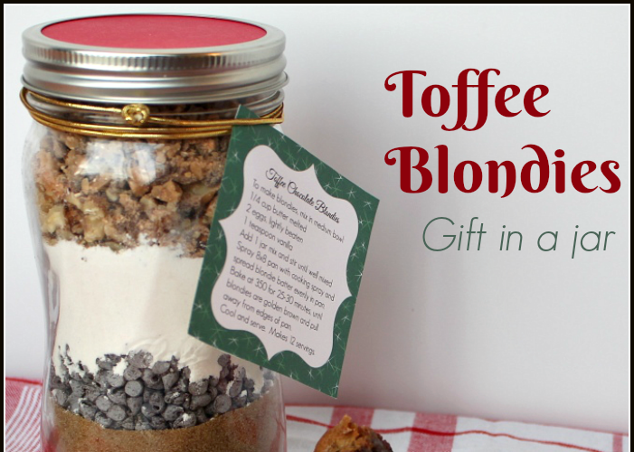 Toffee Blondies   Gift in a jar