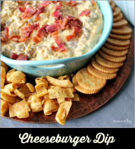 Cheeseburger Dip -- A Pinch of Joy