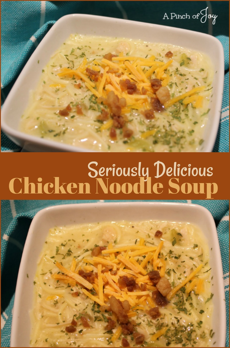 Seriously Delicious Chicken Noodle Soup. -- A Pinch of Joy Hearty Soup ready in 30 minutes!