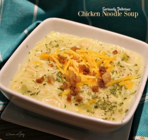 Seriously Delicious. Chicken Noodle Soup -- A Pinch of Joy Ready in 30 minutes!