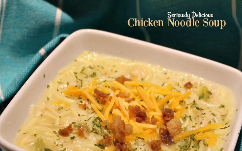 Seriously Delicious Chicken Noodle Soup