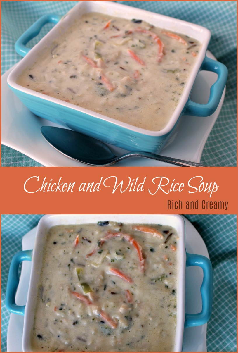 Chicken and Wild Rice Soup -- A Pinch of Joy Rich and Creamy, comfort meal in a bowl!