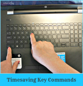 Timesaving Key Commands -- A Pinch of Joy Shortcuts to Navigating web or Windows