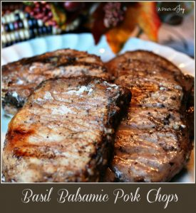 Basil Balsamic Pork Chops