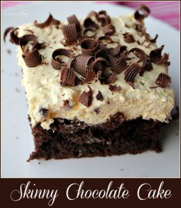 Skinny Chocolate Cake -- A Pinch of Joy #Decadent Dessert