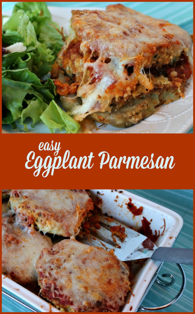 easy Eggplant Parmesan -- A Pinch of Joy.  Low Carb