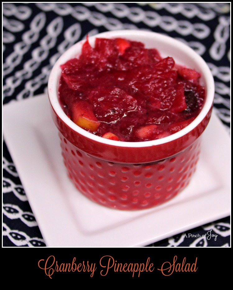 Cranberry Pineapple Salad with Apples -- A Pinch of Joy