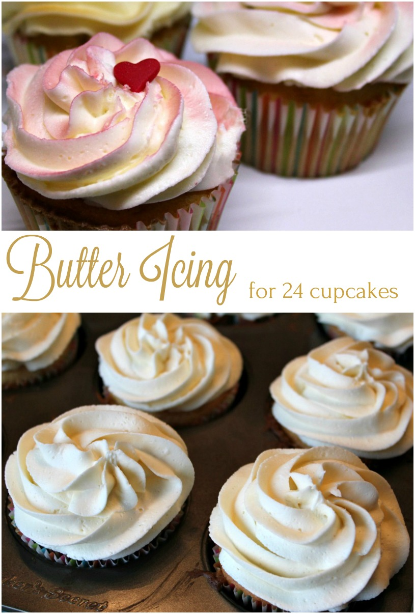 Fluffy Butter Icing for 24 cupcakes - A Pinch of Joy