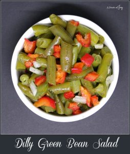 Dilly Green Bean Salad -- A Pinch of Joy Colorful, festive and oh so good (and healthy!)