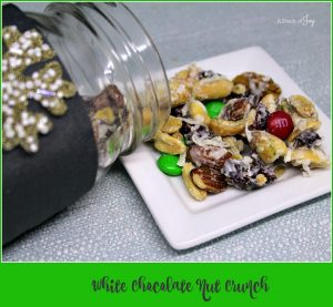 White Chocolate Nut Crunch -- A Pinch of Joy #Quick&Easy #Last Minute Gift #Gift in a Jar