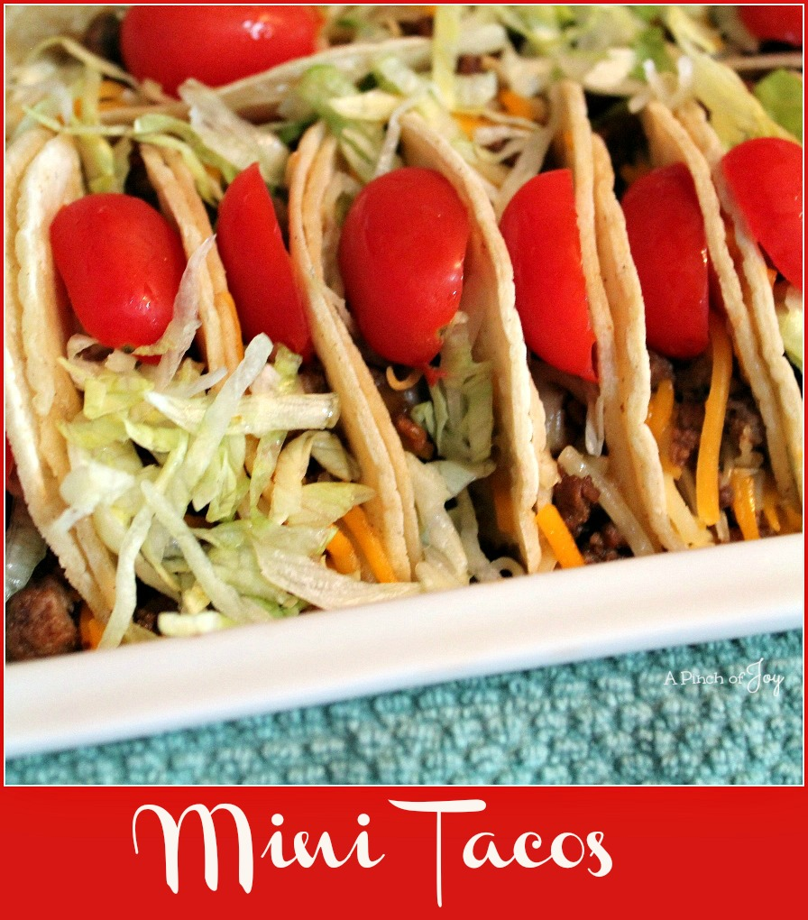 Mini Tacos -- A Pinch of Joy  #Appetizer