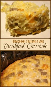 Slow Cooker Sausage and Eggs Breakfast Casserole - A Pinch of Joy