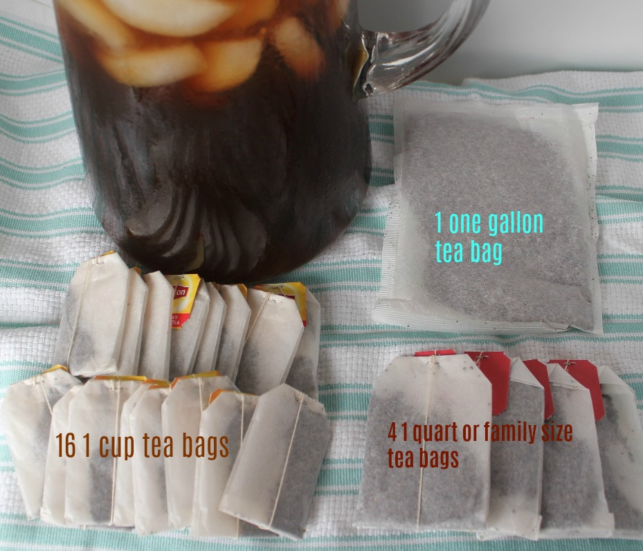Number of tea bags to use for a gallon of tea