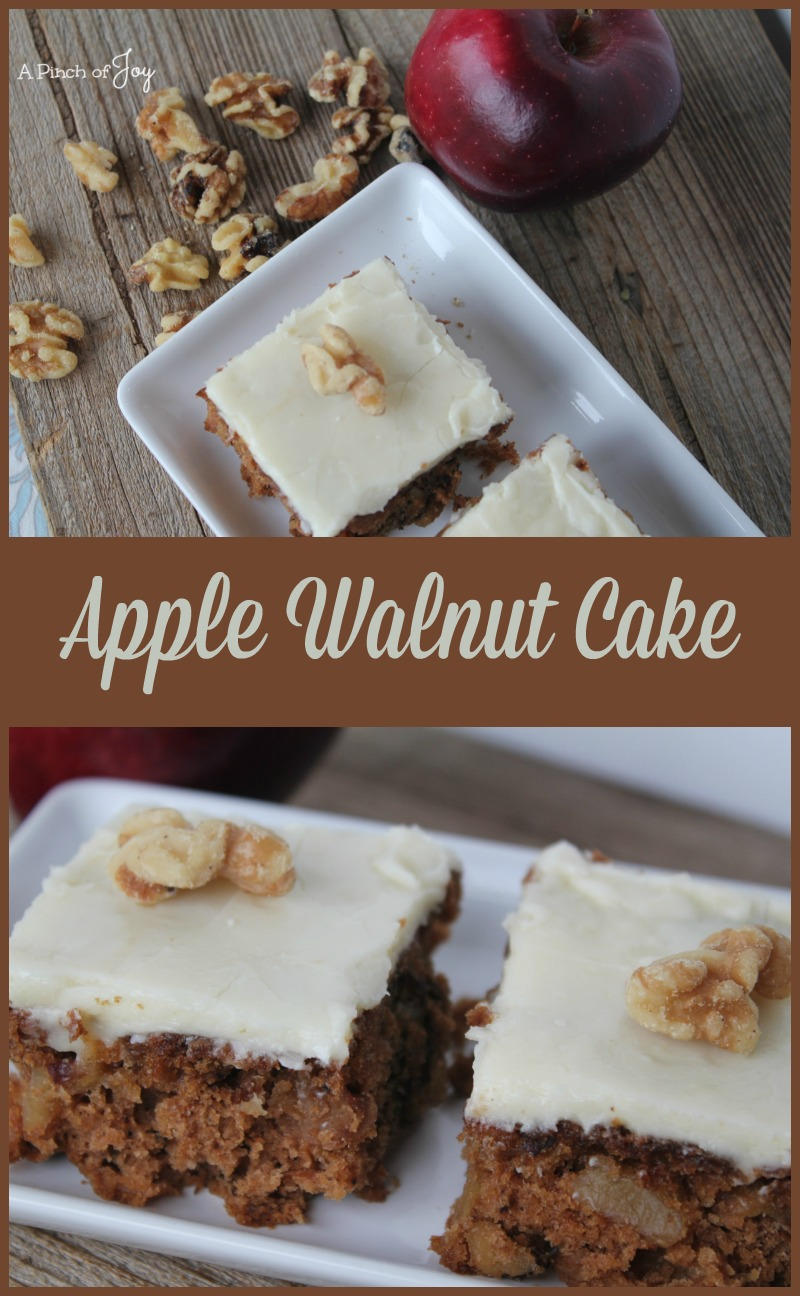 Deliciously spicy Apple Walnut Cake