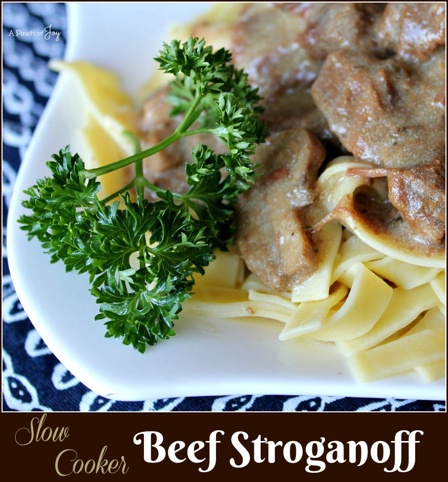 Slow Cooker Beef Straganoff -- A Pinch of Joy