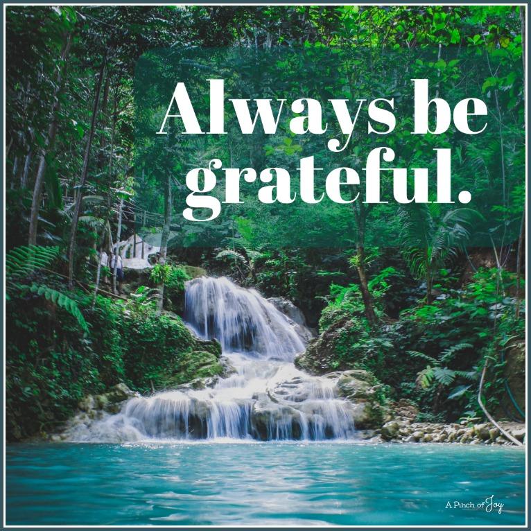 Always be grateful -- free printable gratitude journal -- A Pinch of Joy