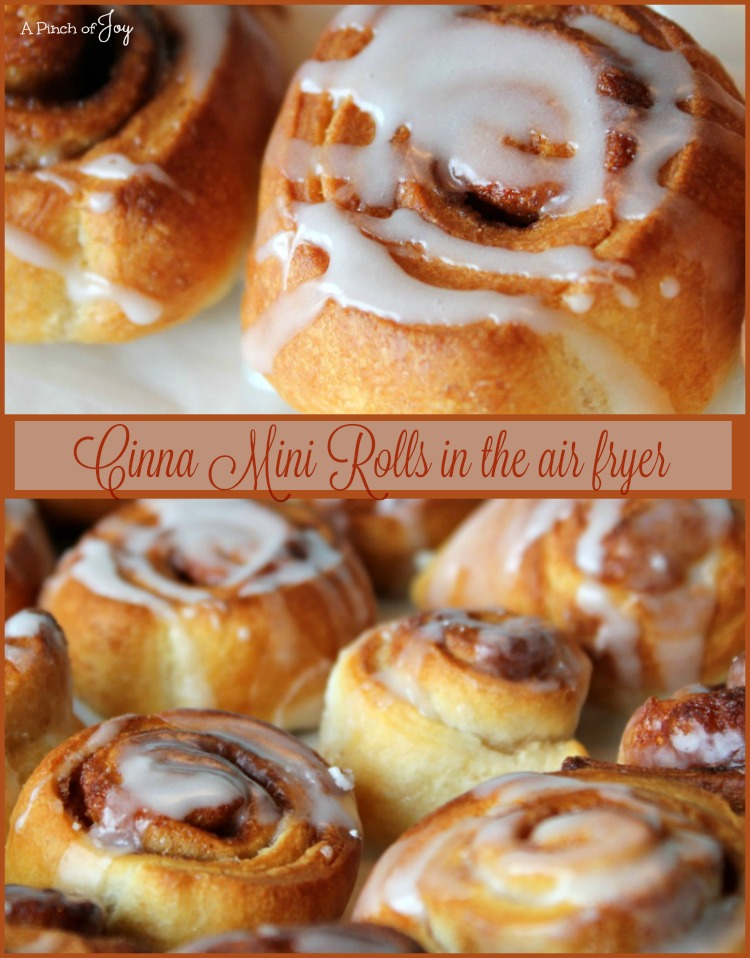 Cinna Mini Rolls - A Pinch of Joy #AirFryer