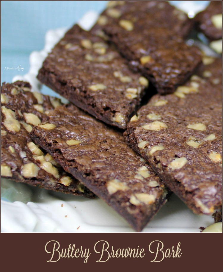 Buttery Brownie Bark - A Pinch of Joy