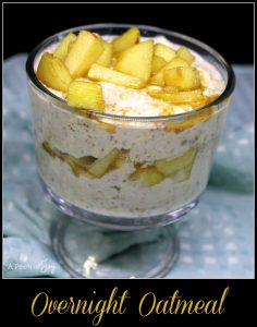 Overnight Oatmeal with Sauted Apples -- A Pinch of Joy #Healthy Breaksfast