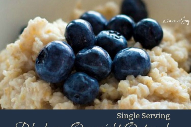 Blueberry Overnight Oatmeal Single Serving