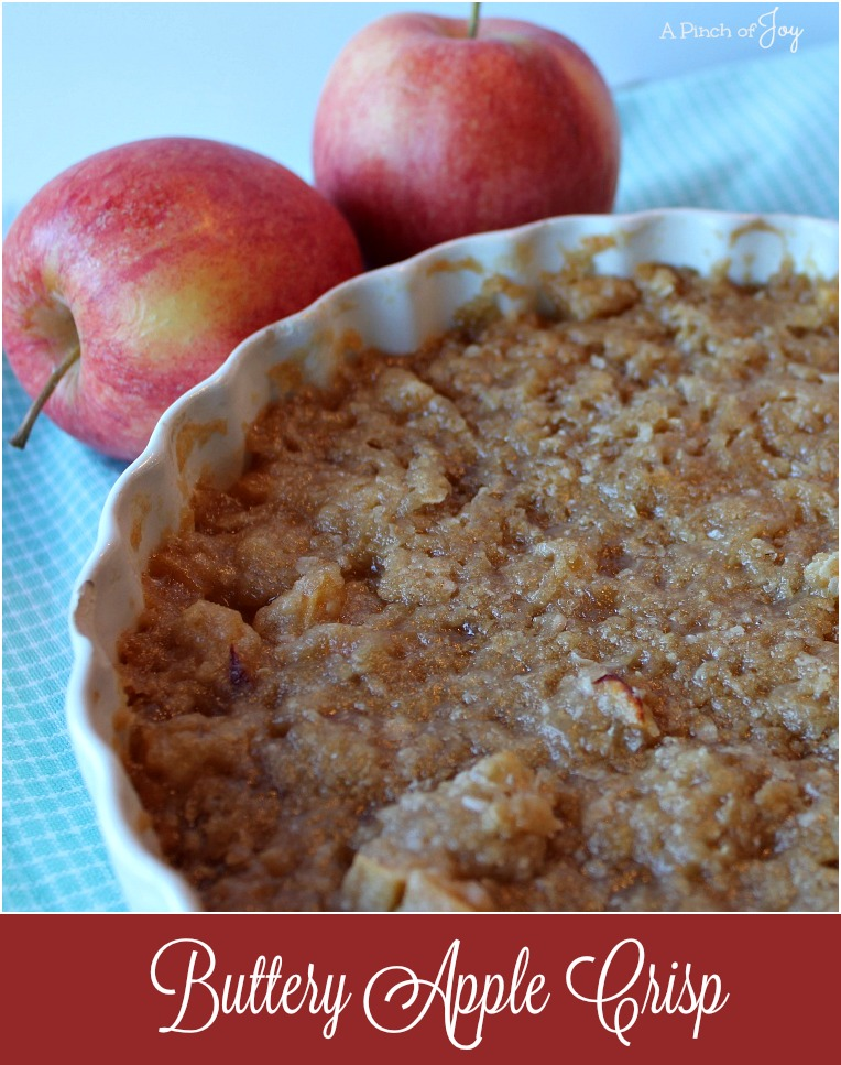 Buttery Apple Crisp - light and buttery deliciousness!