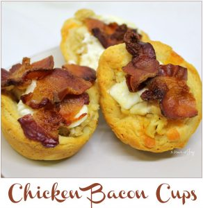 Chicken Bacon Biscuit Cups - A Pinch of Joy