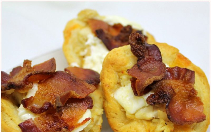 Chicken Bacon Biscuit Cups