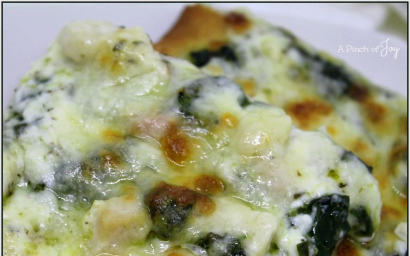 Garlic Chicken and Spinach Pizza