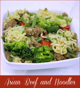 Asian Beef and Noodles - A Pinch of Joy