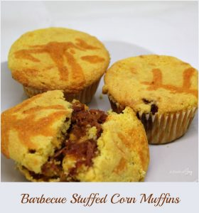 Barbecue Stuffed Corn Muffins -- A Pinch of Joy _Quick and Easy