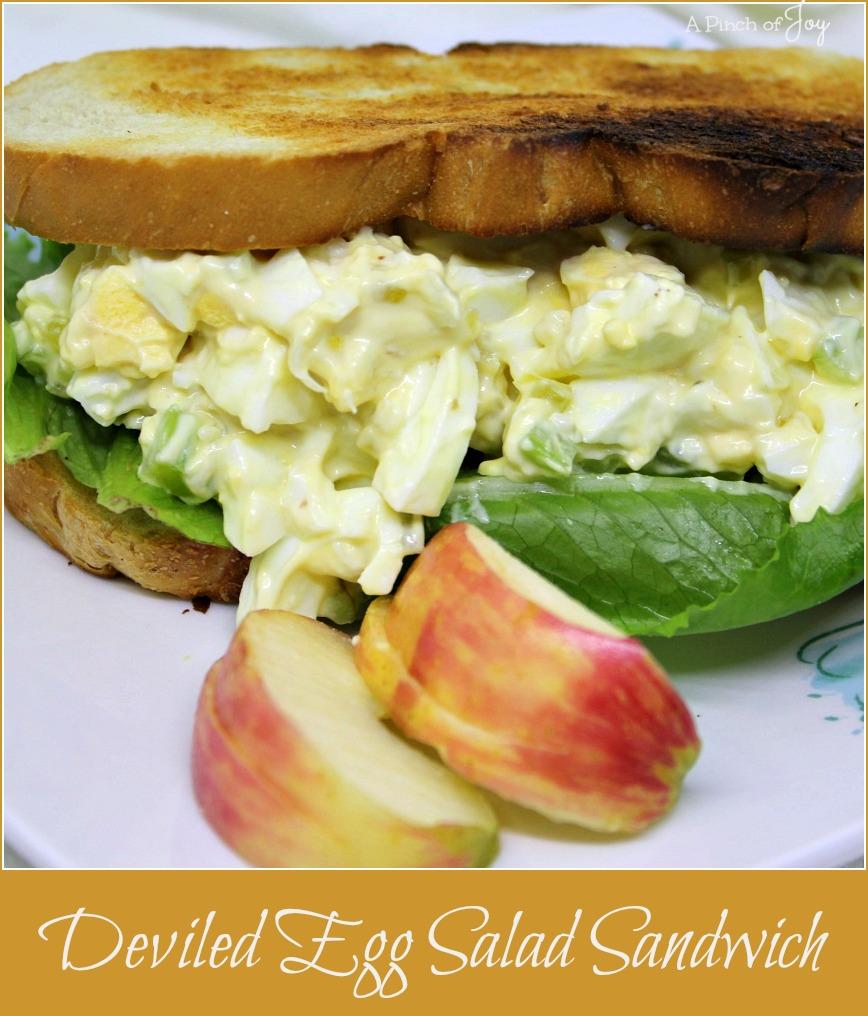 Deviled Egg Salad Sandwich -- A Pinch of Joy
