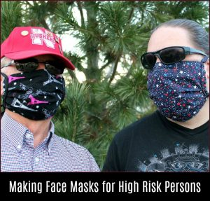 Making Face Masks for High Risk Persons -- A Pinch of Joy