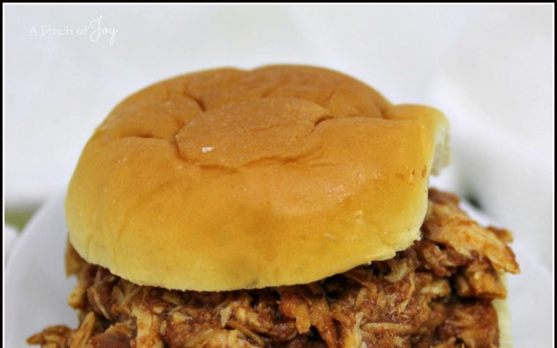 Beer Barbecue Chicken Sliders in the Slow Cooker