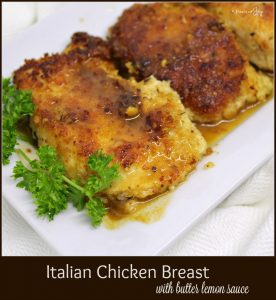 Italian Chicken Breast with butter lemon sauce -- A Pinch of Joy