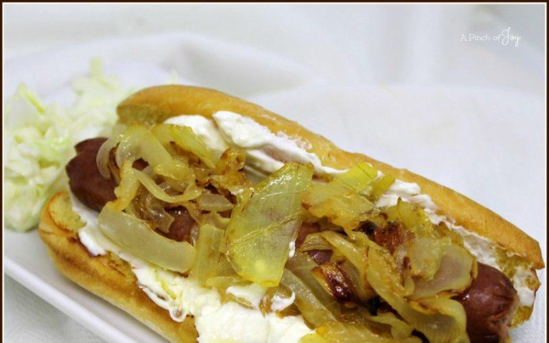Cream Cheese and Onion Hotdog