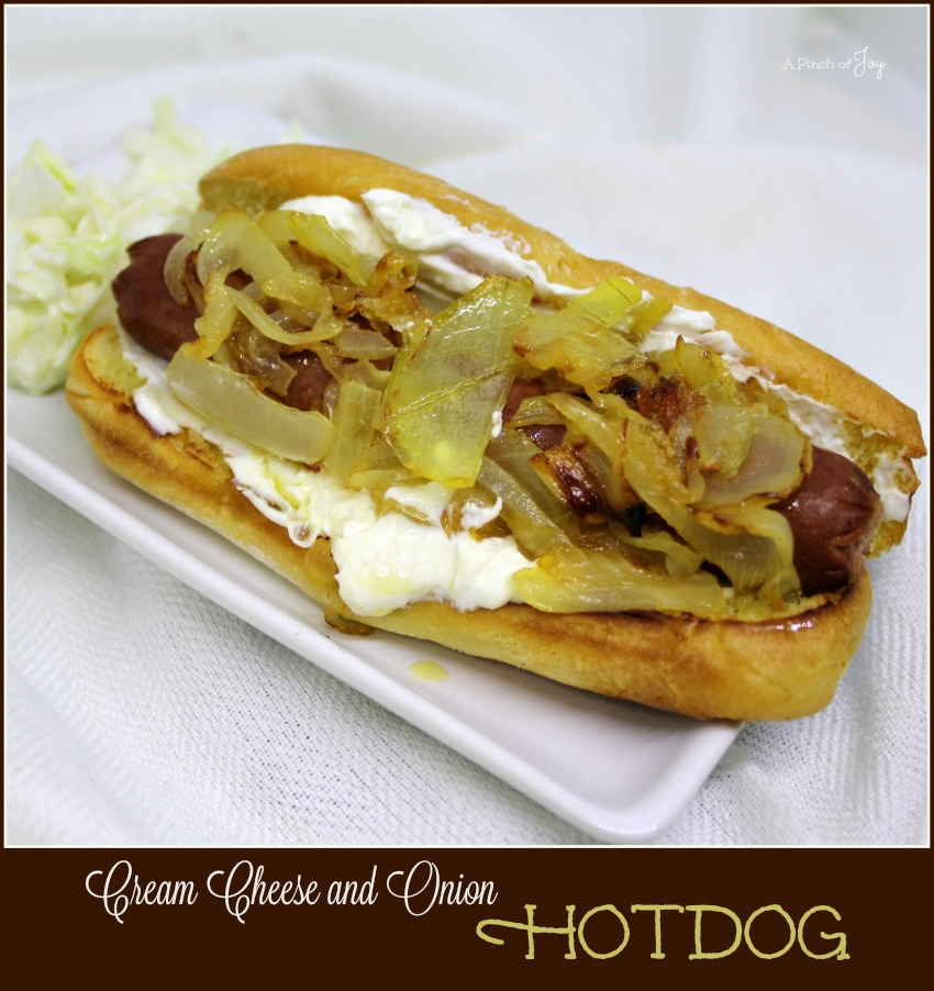 Cream Cheese and Onion Hotdogs-  Hotdog - A Pinch of Joy.